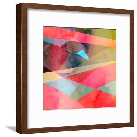 Abstract Colorful Watercolor Background-tanor27-Framed Art Print