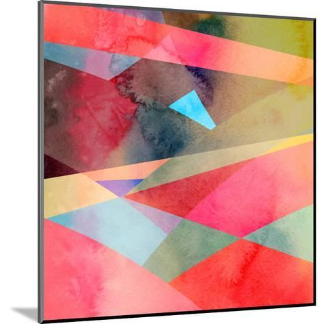 Abstract Colorful Watercolor Background-tanor27-Mounted Art Print