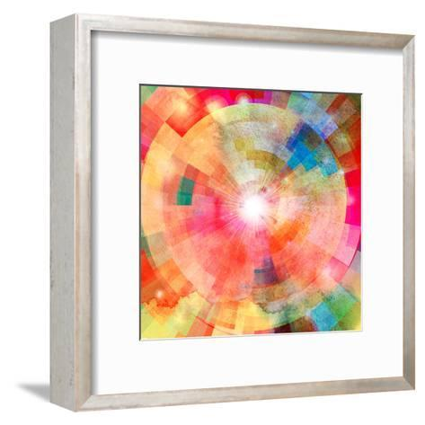 Abstract Colorful Background with Sun-tanor27-Framed Art Print