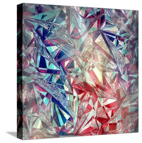 Abstract Watercolor Geometric Triangles Background-tanor27-Stretched Canvas Print