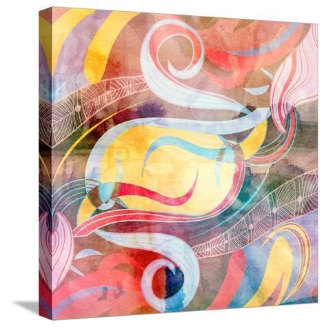 Abstract Colorful Watercolor Background-tanor27-Stretched Canvas Print