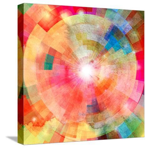 Abstract Colorful Background with Sun-tanor27-Stretched Canvas Print