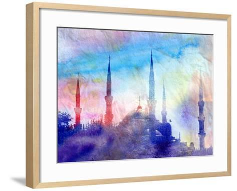 Blue Mosque-tanor27-Framed Art Print