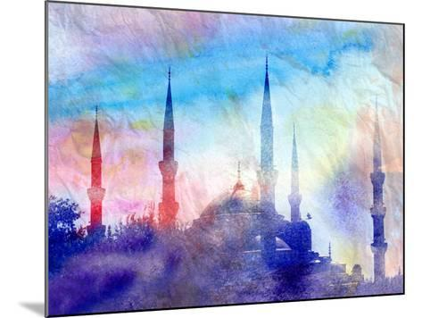 Blue Mosque-tanor27-Mounted Art Print