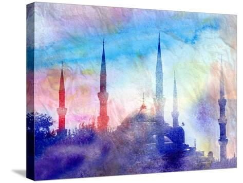 Blue Mosque-tanor27-Stretched Canvas Print