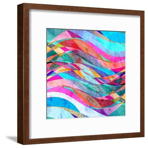 Abstract Wave-tanor27-Framed Art Print