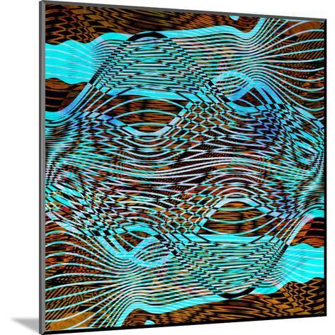 Abstract Wave-tanor27-Mounted Art Print
