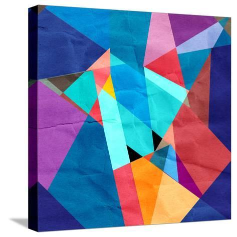 Abstract Watercolor Geometric Background-tanor27-Stretched Canvas Print