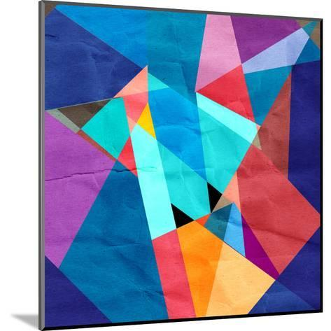 Abstract Watercolor Geometric Background-tanor27-Mounted Art Print