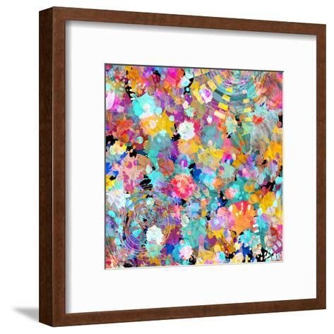 Watercolor Abstract Background-tanor27-Framed Art Print