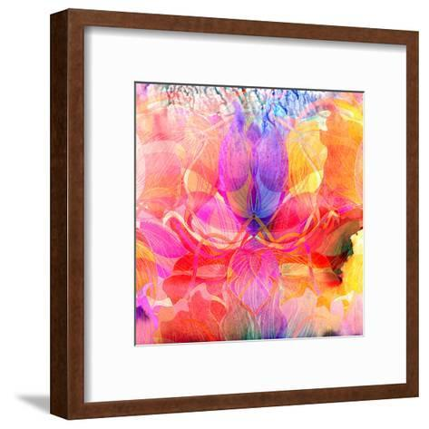 Abstract Watercolor Background-tanor27-Framed Art Print