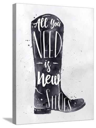 Poster Boots-anna42f-Stretched Canvas Print