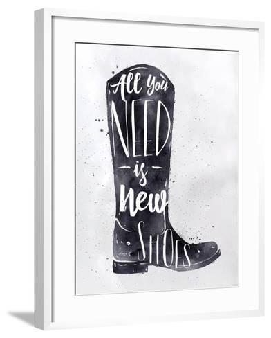 Poster Boots-anna42f-Framed Art Print