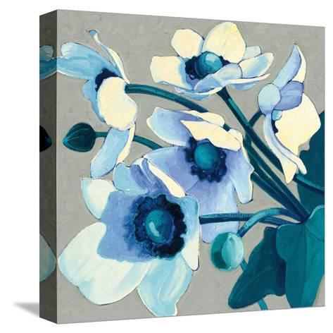 Anemones Japonaises III-Shirley Novak-Stretched Canvas Print
