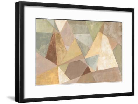 Geometric Abstract Neutral-Silvia Vassileva-Framed Art Print
