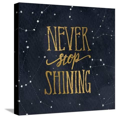 Starry Words II v.3 Gold-Sara Zieve Miller-Stretched Canvas Print
