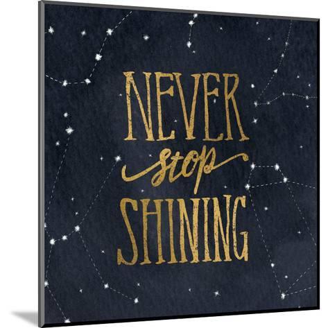 Starry Words II v.3 Gold-Sara Zieve Miller-Mounted Art Print