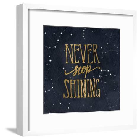 Starry Words II v.3 Gold-Sara Zieve Miller-Framed Art Print