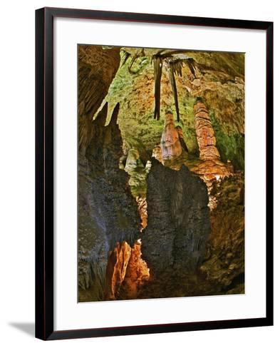 Stalactites and Stalagmites in the Hall of Giants, Big Room, Carlsbad Caverns Np-Adam Jones-Framed Art Print