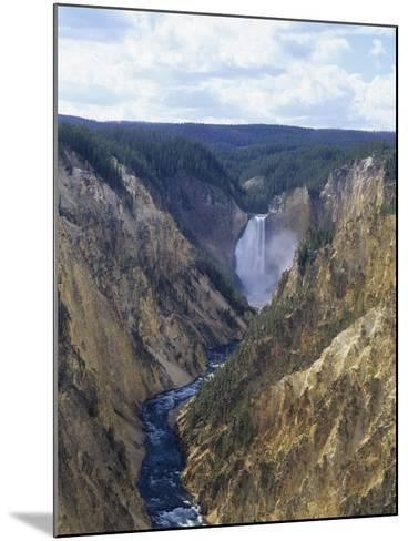 Lower Yellowstone Falls and Grand Canyon of the Yellowstone, Yellowstone National Park, Wyoming-Adam Jones-Mounted Photographic Print