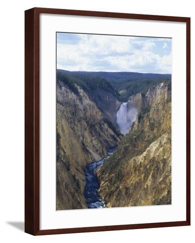 Lower Yellowstone Falls and Grand Canyon of the Yellowstone, Yellowstone National Park, Wyoming-Adam Jones-Framed Art Print