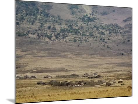 Masai Village Near Ngorongoro Crater, Tanzania-Adam Jones-Mounted Photographic Print