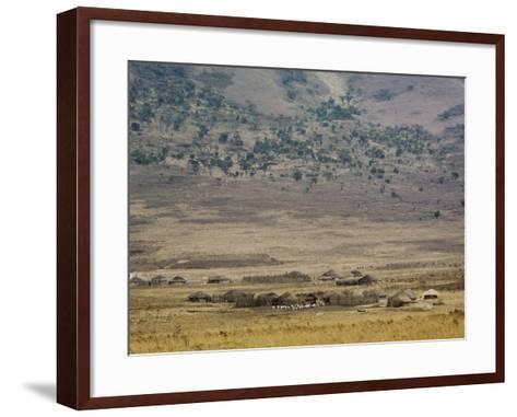 Masai Village Near Ngorongoro Crater, Tanzania-Adam Jones-Framed Art Print