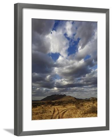 Fork in the Road at Sunset, Samburu Game Reserve, Kenya, Africa-Adam Jones-Framed Art Print