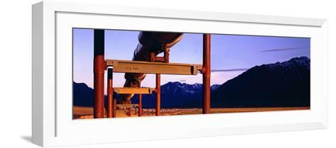 The Trans Alaska Pipeline Just North of the Brooks Range Looking South-Paul Andrew Lawrence-Framed Art Print