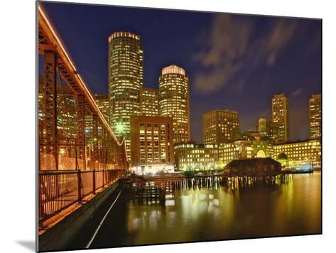 Boston Skyline at Dusk, Boston, Massachusetts-Adam Jones-Mounted Photographic Print