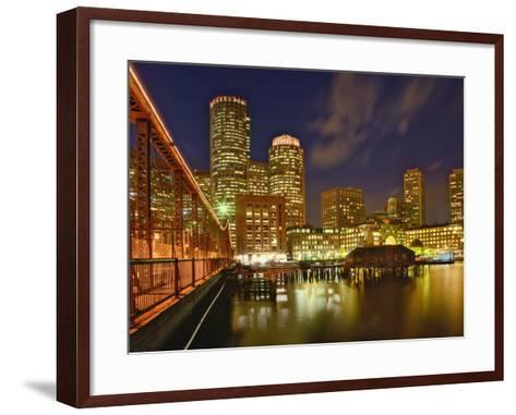 Boston Skyline at Dusk, Boston, Massachusetts-Adam Jones-Framed Art Print