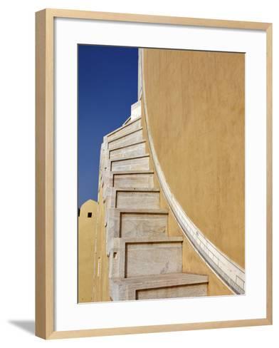 Jantar Mantar in Jaipur, One of Six Major Observatories Built by Maharajah, India-Adam Jones-Framed Art Print