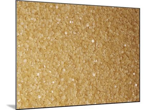 Brown and Coarse Turbinado Sugar Crystals from Sugarcane (Saccharum Officinarum)-Ken Lucas-Mounted Photographic Print