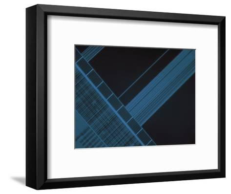 Micrograph of Computer Microprocessor, LM X200, Epifluorecence, UV Illumination-Robert Markus-Framed Art Print