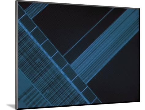 Micrograph of Computer Microprocessor, LM X200, Epifluorecence, UV Illumination-Robert Markus-Mounted Photographic Print