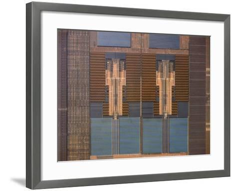 Micrograph of a Computer Microprocessor, LM X200-Robert Markus-Framed Art Print