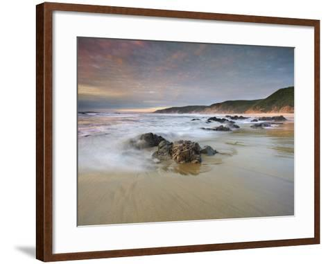 Waves Crashing onto the Rocky and Sandy Mcclure's Beach-Patrick Smith-Framed Art Print