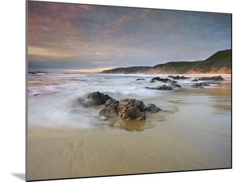Waves Crashing onto the Rocky and Sandy Mcclure's Beach-Patrick Smith-Mounted Photographic Print