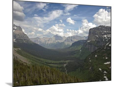 Glacial U-Shaped Valley, Glacier National Park, Montana, USA-Marli Miller-Mounted Photographic Print