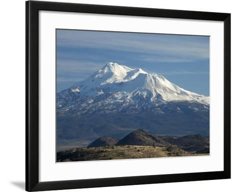 Mt Shasta, Dormant Stratovolcano in Northern California, Showing at Least Three of the Four-Marli Miller-Framed Art Print