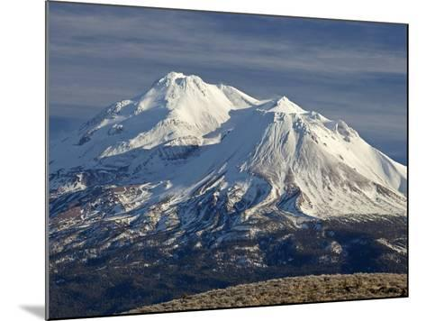 Mt Shasta, Dormant Stratovolcano in Northern California, Showing at Least Three of the Four-Marli Miller-Mounted Photographic Print