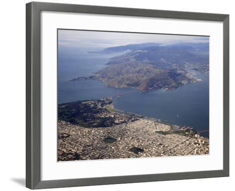 Golden Gate Bridge, San Francisco North to Marin Headlands, California, USA-Marli Miller-Framed Art Print