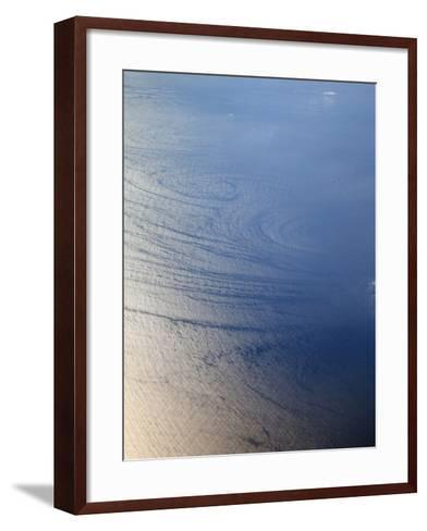 Aerial View of Wave Patterns Created by Ocean Currents, Pacific Ocean, California, USA-Marli Miller-Framed Art Print