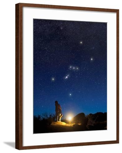 Star Gazers Observing Orion-David Nunuk-Framed Art Print