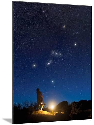 Star Gazers Observing Orion-David Nunuk-Mounted Photographic Print