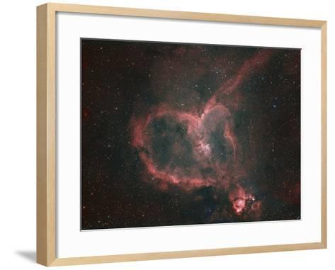 Ic1805, the Heart Nebula-Matthew Russell-Framed Art Print