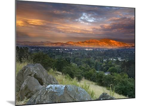 After a Storm Rolled Though the Valley, an Opening in the Clouds Allowed Mt Diablo-Patrick Smith-Mounted Photographic Print