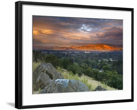 After a Storm Rolled Though the Valley, an Opening in the Clouds Allowed Mt Diablo-Patrick Smith-Framed Art Print