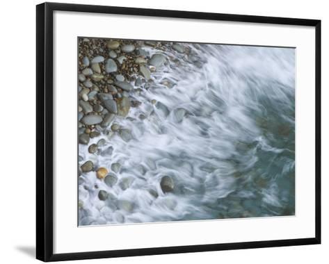 Wave Breaking on Rocky Beach, California, USA-Arthur Morris-Framed Art Print