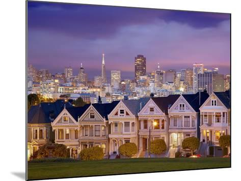 Alamo Square and the Victorian Style Painted Ladies Homes, San Francisco, California, USA-Patrick Smith-Mounted Photographic Print